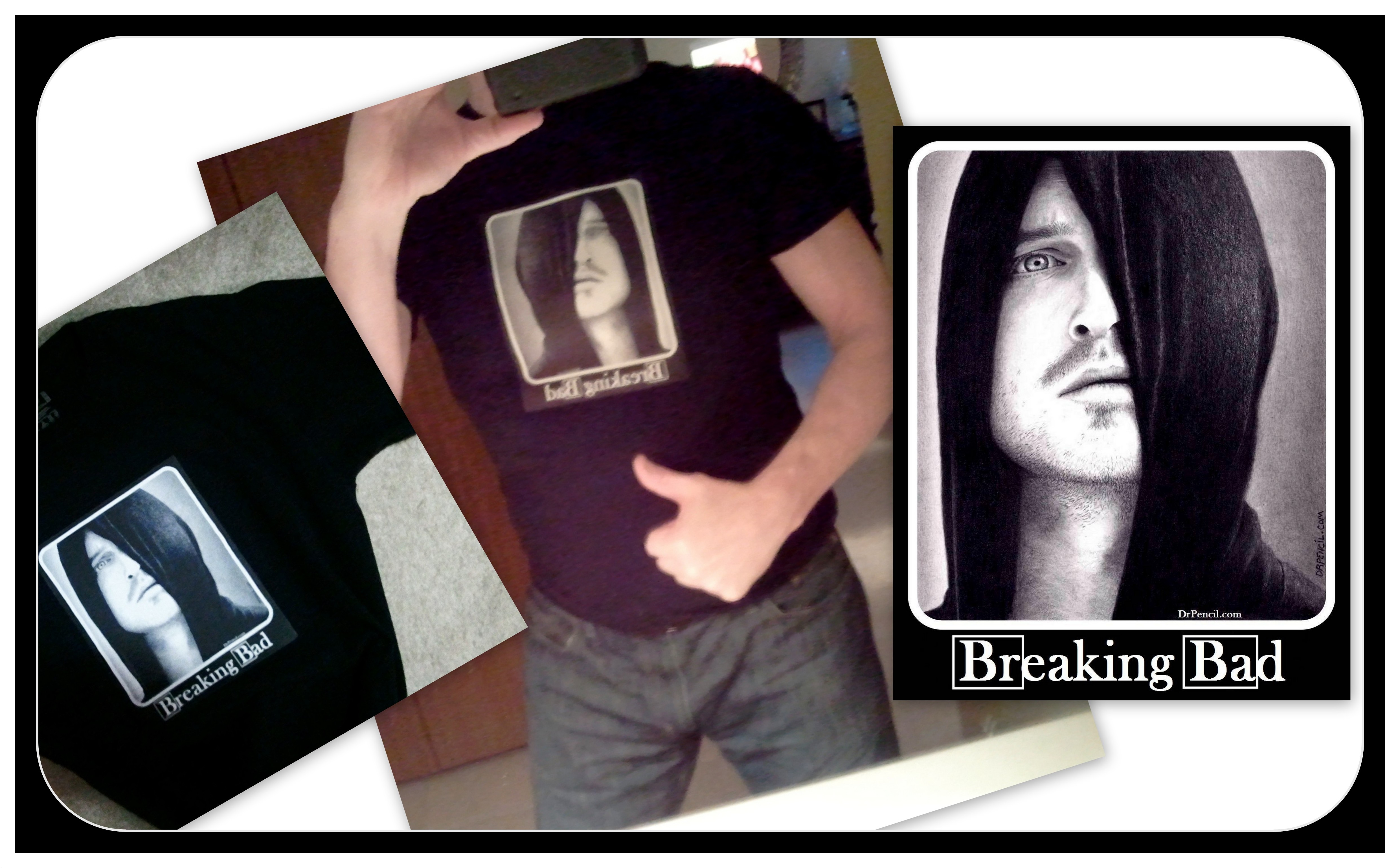 My BREAKING BAD T-shirt Drawing by Doctor-Pencil