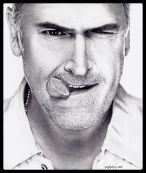 Bruce Campbell - BURN NOTICE by Doctor-Pencil