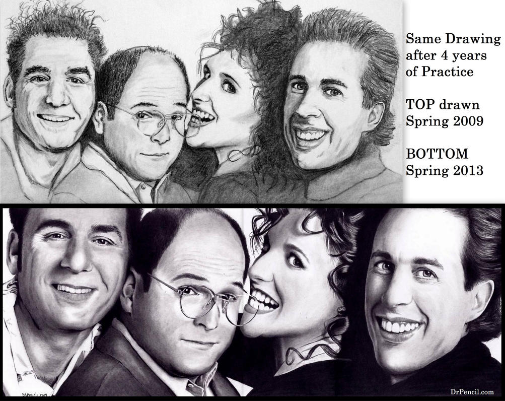 Seinfeld - same drawing 4 years later by Doctor-Pencil