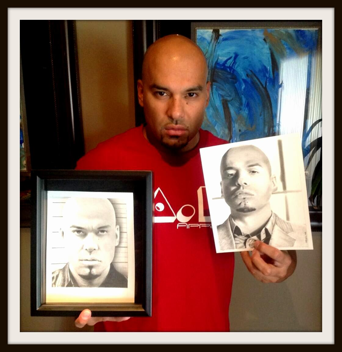 Luis Moncada with Drawing - BREAKING BAD by Rick-Kills-Pencils