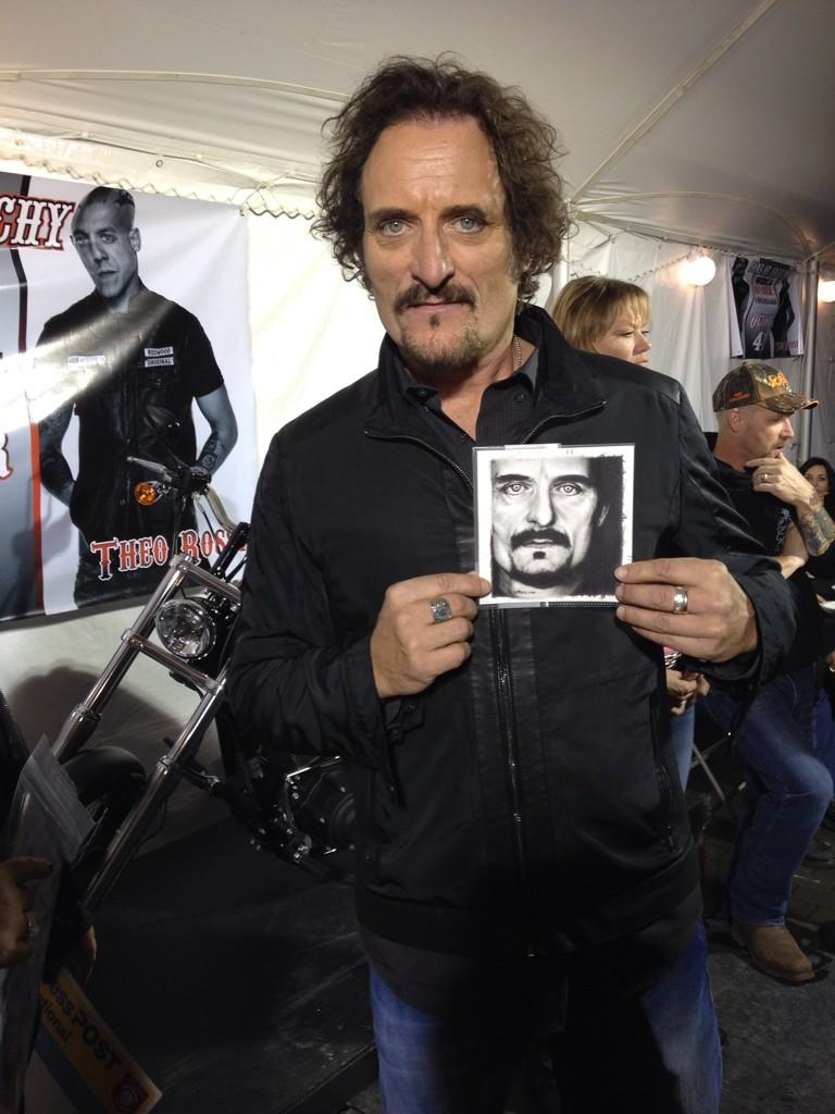 Kim Coates with my Drawing - SONS OF ANARCHY by Rick-Kills-Pencils