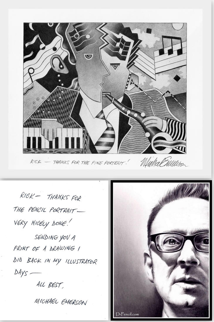 NOTE and ART FROM Michael Emerson by Rick-Kills-Pencils