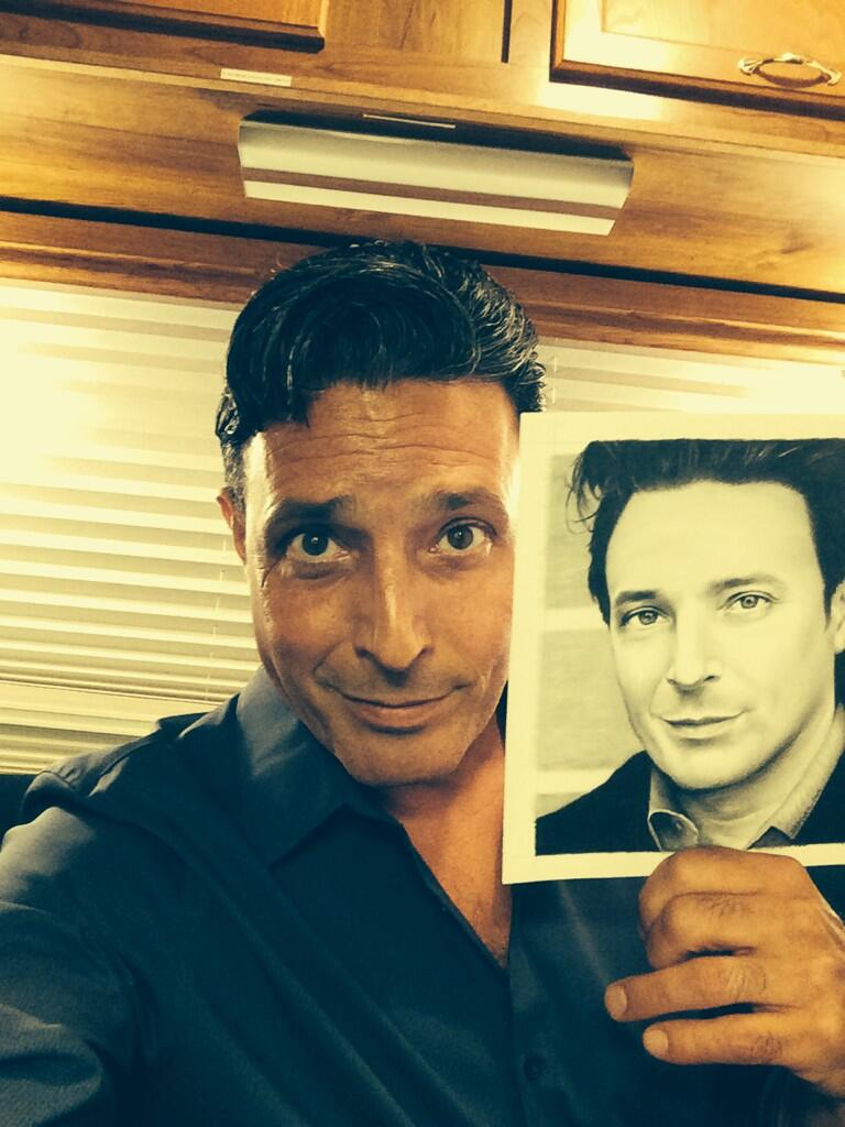 David Valcin with drawing - PERSON OF INTEREST by Doctor-Pencil