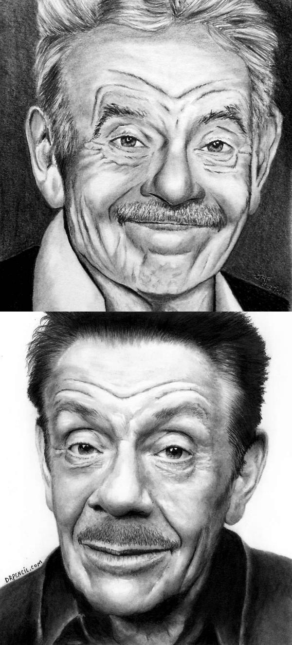 Jerry Stiller - 2009 vs 2015 by Doctor-Pencil
