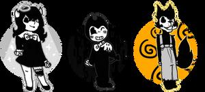 chibi BATIM characters #1