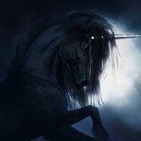 Black Unicorn by XDaiaX