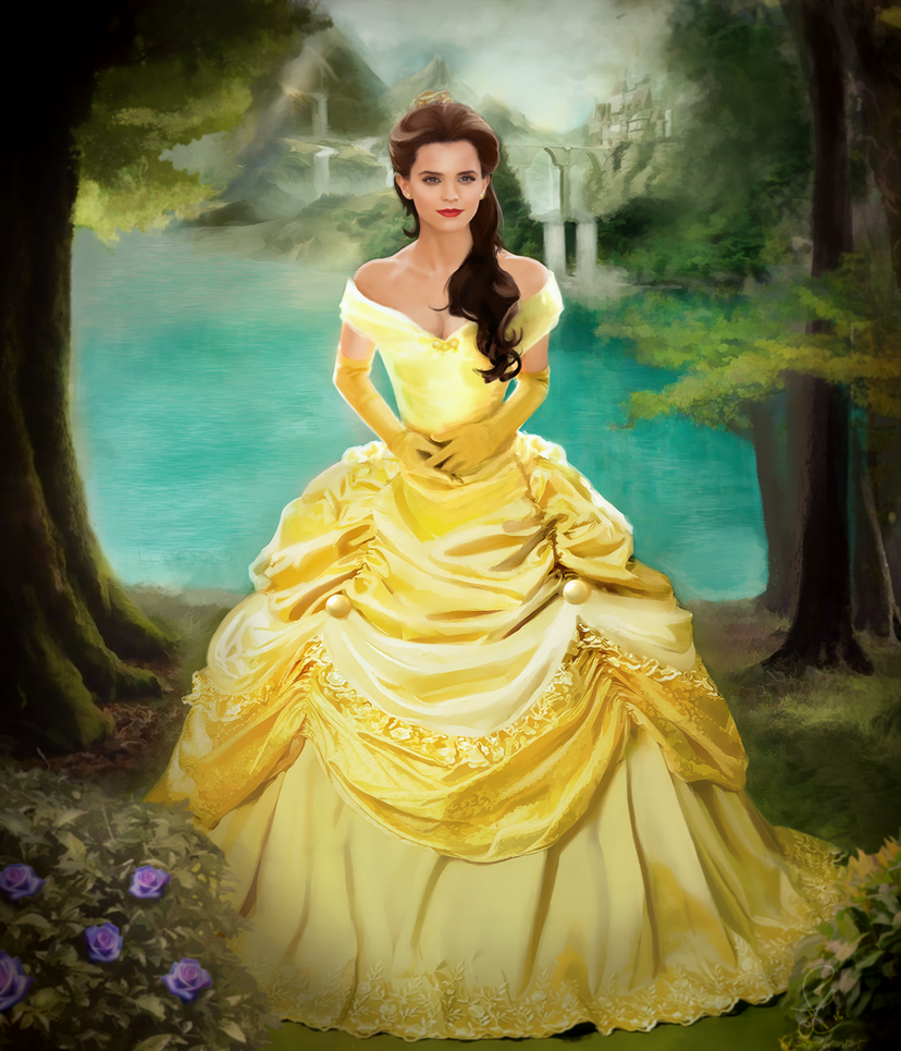 emma watson as belle from beauty and the beast by xdaiax on deviantart