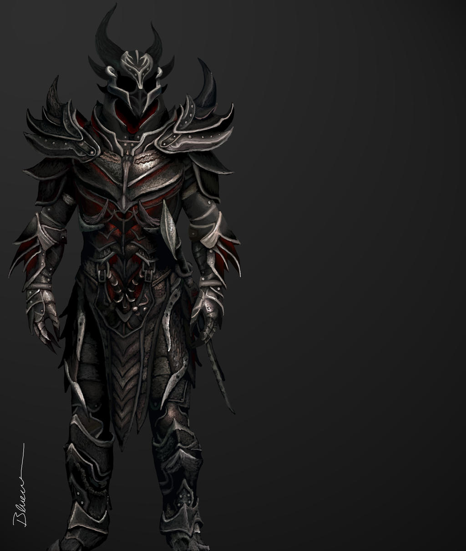 Daedric Armor (Skyrim) by Blueraven90