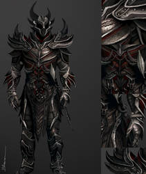 Daedric Armor details by Blueraven90