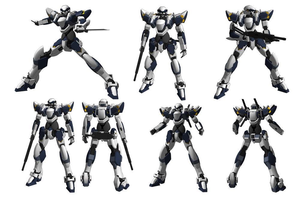 ARX-7 Arbalest -poses- by Illsteir