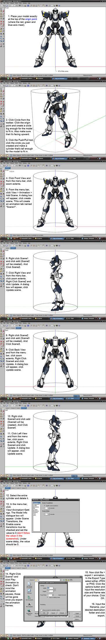 360 Anim. Frames in SketchUp