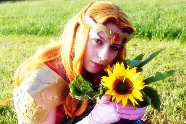 Zelda - sunflower by Katsuya-neechan