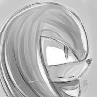 Knuckles sketch. by lilliganto
