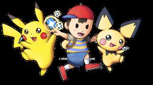 [COMMISSION] Ness/Pikachu/Pichu