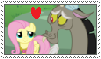 (Gift) Discord x Fluttershy stamp by MarioSonicPeace