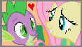 (Request) Fluttershy x Spike stamp by MarioSonicPeace