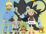 Clemont and his Pokemon (w/Bonnie)