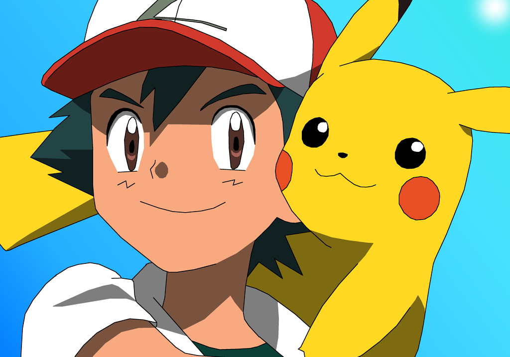 Ash and pikachu th anniversary by pokemonxylover on