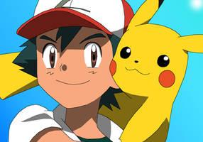 Ash and Pikachu: 20th Anniversary by Buizermaniac1998