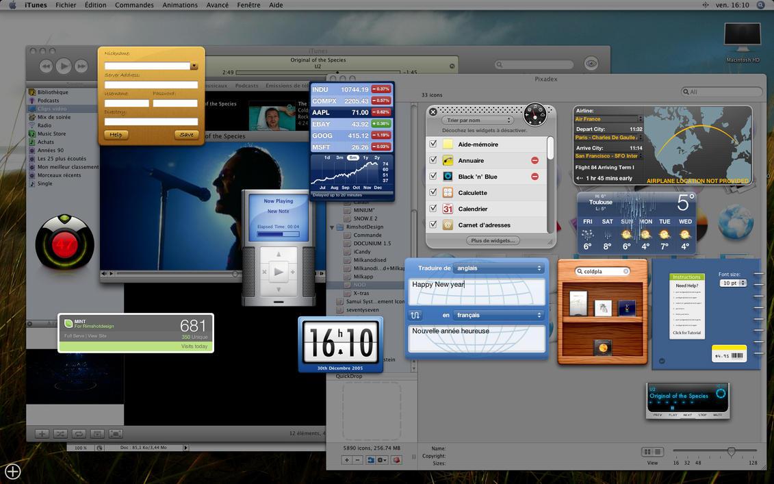 Widgeted screenshot by RimshotDesign