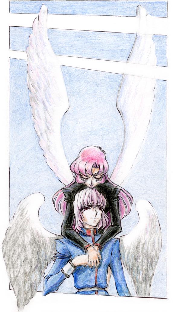 Utena and Mikage winged by Utena-Lina