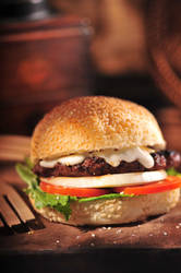 Melted Goat Cheese Burger