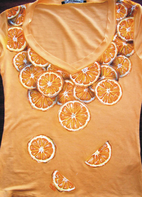 Oranges t-shirt by ivita-iva