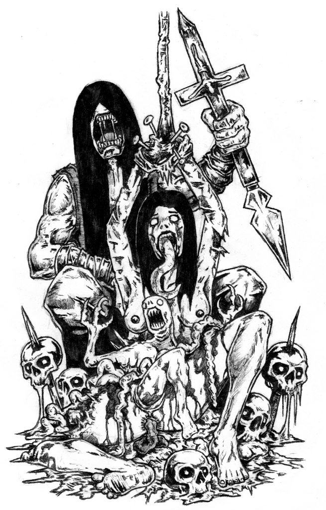 the gallery for gt evil demon skull drawings in pencil