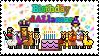 Birthday Llama Stamp by Chiichanny