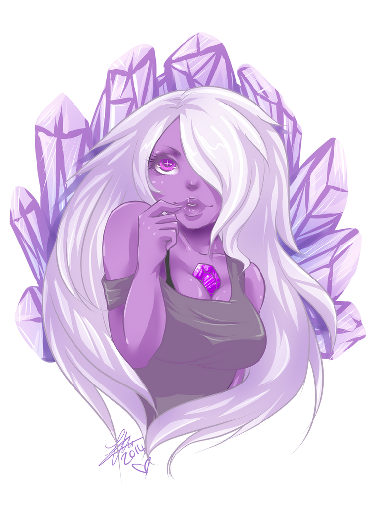 i am a HUGE Steven Universe Fan, i love Amethyst and Garnet, they are just brilliant, Steven is an adorable kid and Pearl has like this motherly relationship with them all, they are all awesome! i ...