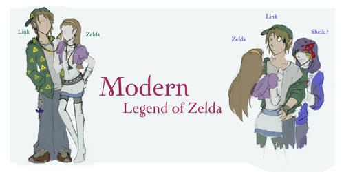 Modern Link + Zelda by TearaSuzuki