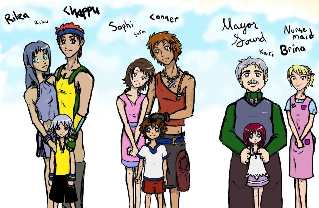 Sora Kingdom Hearts Lineart : The parents of kingdom hearts by tearasuzuki on deviantart
