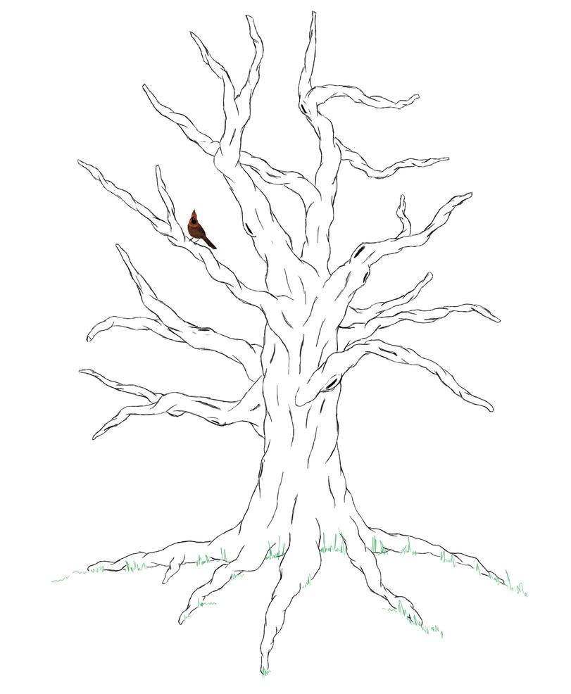 Tree tattoo by ybnormalman