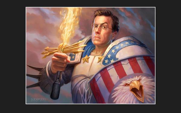 Stephen Colbert, the Palidin by Xero-Oni