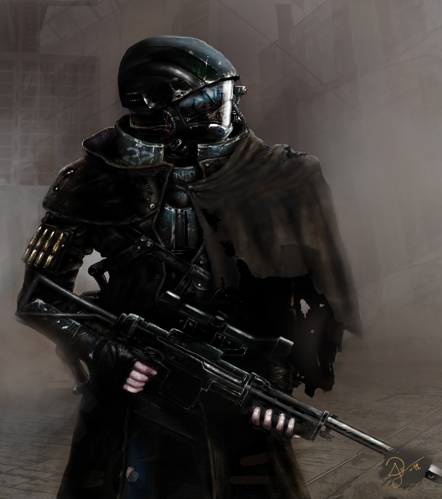 Stock Illustration of Sci-Fi Jungle Ranger - 1 - Futuristic Marine ...
