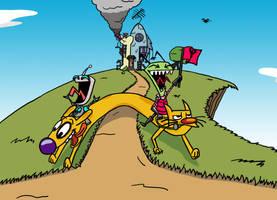 CatDog and Invader Zim- #NickFanArt by lnsert-creative-name
