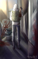 Jeff The Killer in the world of zombie Apocalypse by WingLifeS