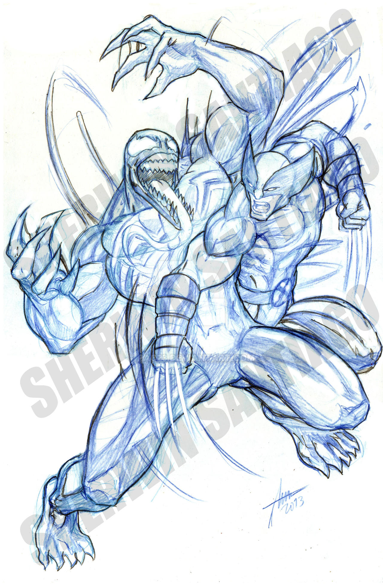 Venom Vs Wolverine Tattoo Venom Vs Wolverine Tattoo Pencil Stage By Pac
