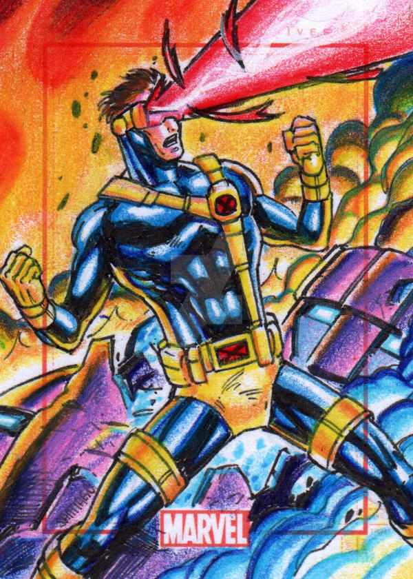 Cyclops Marvel 75th Anniversary Sketch Card by PAC23