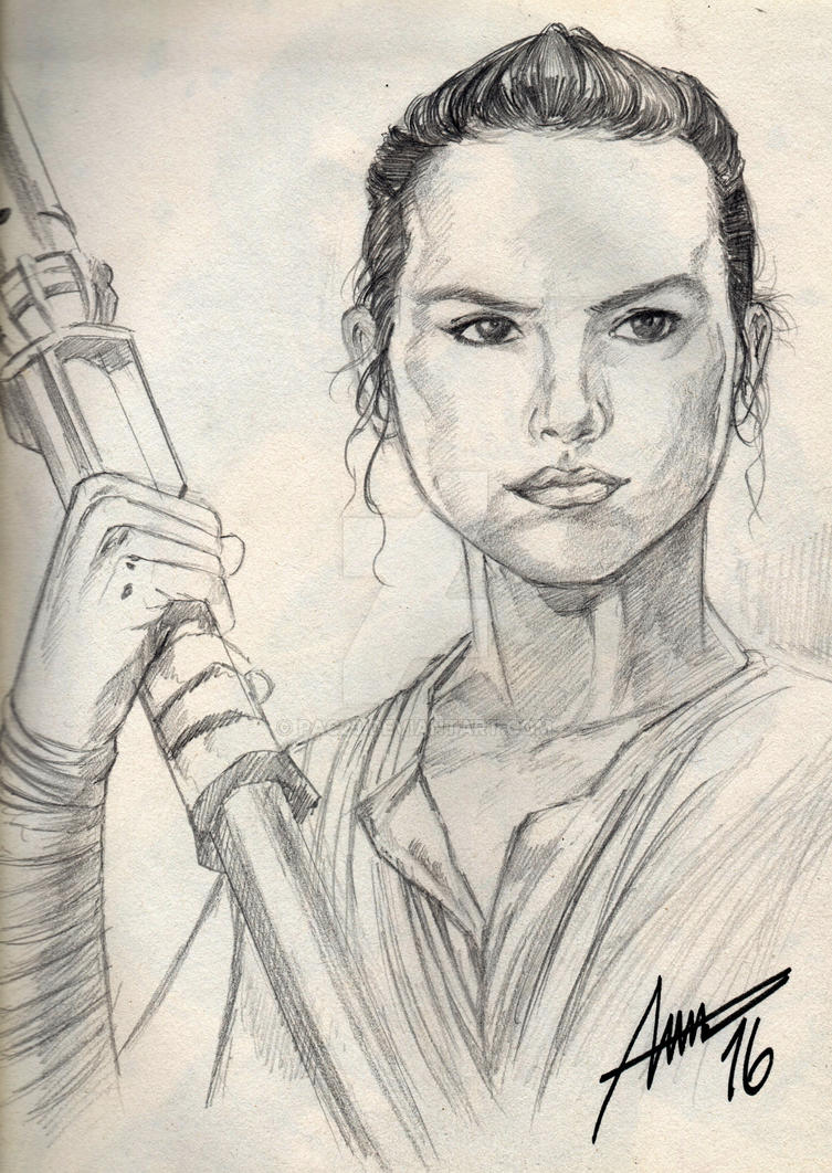 Rey Sketch by PAC23