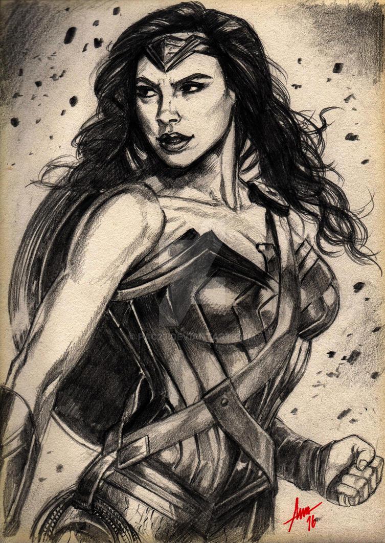Wonder Woman Bvs Sketch by PAC23