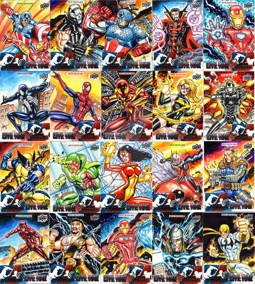 Marvel Civil War Approved Cards by PAC23