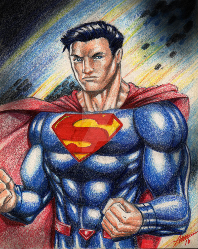 Idle Hands... Superman Sketch by PAC23