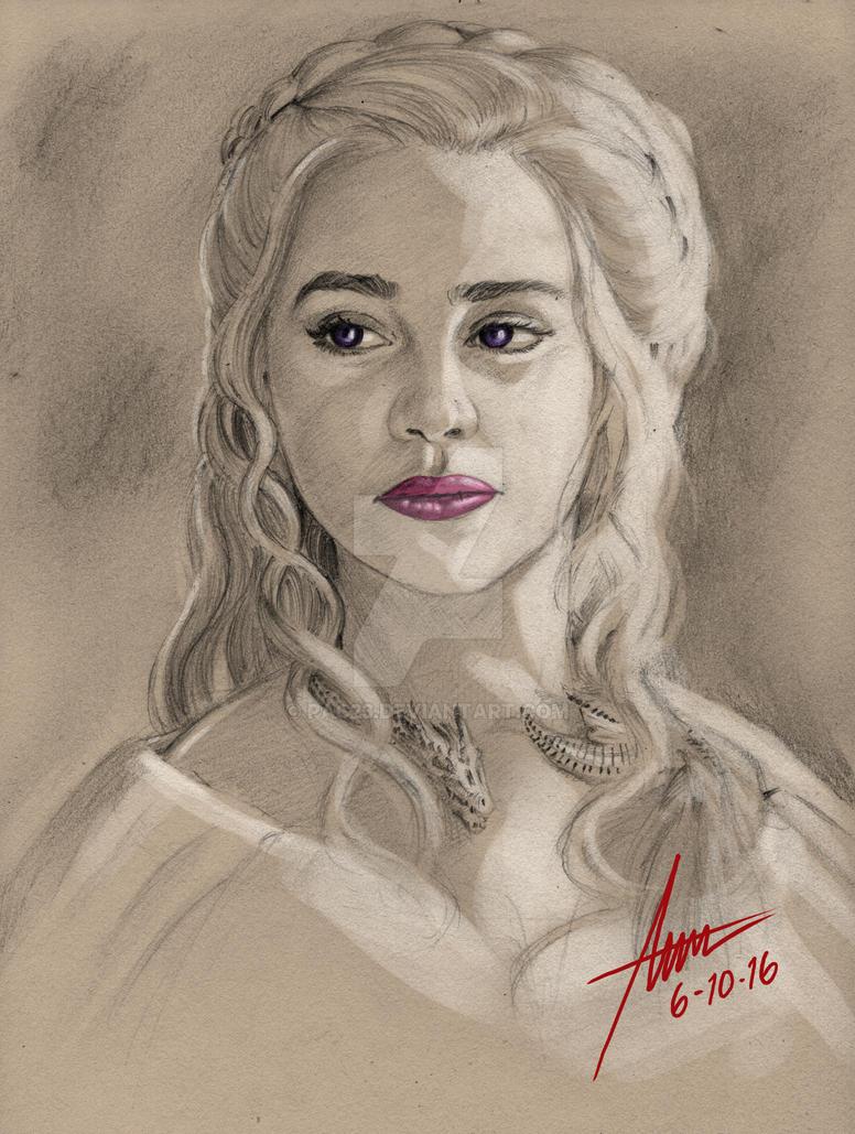 Daenerys Targaryen Sketch by PAC23