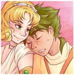 Fuu/Ferio cuddles