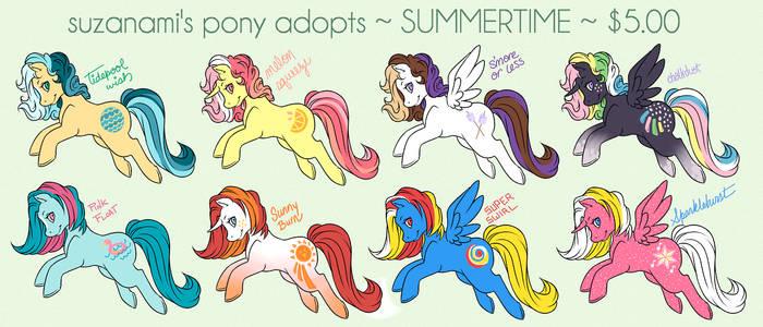 MLP Summertime Adopts!