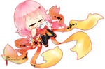 Flaming Flower ~ Chibi Inori Yuzuriha
