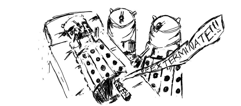 Birth of a Dalek by Cupidspoisondart