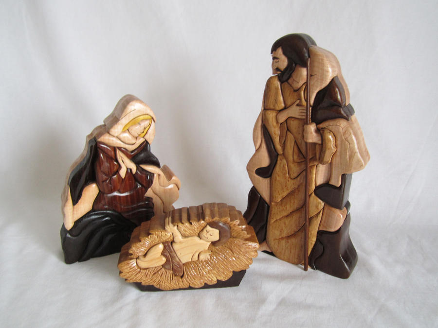 Intarsia nativity scene by dmsscroller on deviantart for Nativity cut out patterns wood