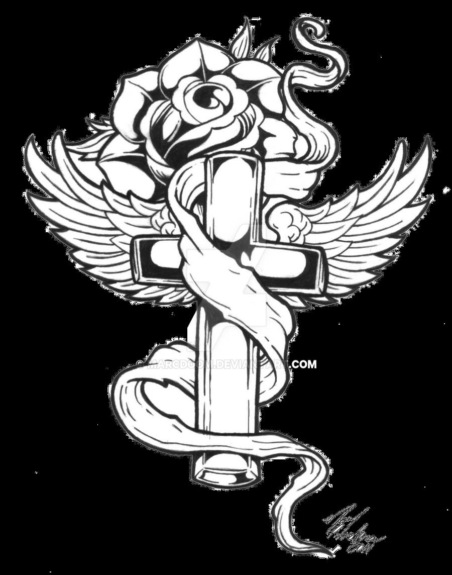 Cross Tattoo Transparent